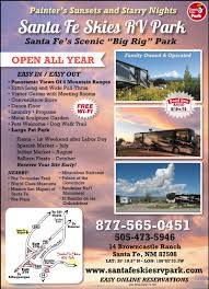 santa fe new mexico rv parks santa fe campgrounds rv camping