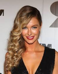 hair curled for prom prom hairstyles to the side curly women