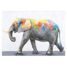 yosemite home decor 27 6 in h x 39 4 in w dazzling elephant