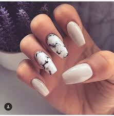 best 25 white coffin nails ideas on pinterest prom nails