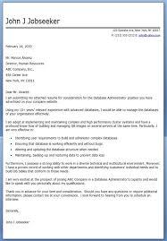 database administrator cover letter sample creative resume