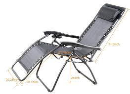 Zero Gravity Recliner Amazon Com Outsunny Zero Gravity Recliner Lounge Patio Pool Chair