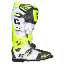 motocross boots size 10 gaerne mx boots sg 12 white fluo yellow grey limited edition
