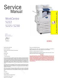 xerox work centre 5222 5225 5230 service manual pages image