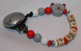 perle en bois pour attache tetine attache tétine sucette personnalisé