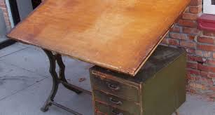Large Drafting Tables Table Vintage Industrial Hamilton Drafting Table Kitchen Amazing