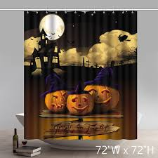 funny print halloween powerpoint bathroom shower curtains