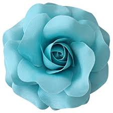 Teal Roses Amazon Com Sara Monica Flower Hair Clip And Pin Rose Made In
