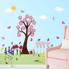 flower wall decals for girls room u2013 peel u0026 stick flower stickers
