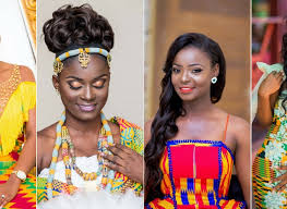 ghanians hairstyle ghanaian brides in their traditional wedding outfit that will