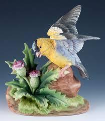vintage andrea by sadek porcelain bisque goldfinch bird figurine