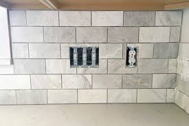 how to grout tile backsplash fresh how to install a marble subway