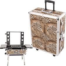 sunrise c6010 makeup rolling case artist cosmetic train table