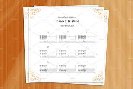 wedding seating chart template wedding seating chart poster stationery templates creative market