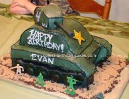 Cool Homemade Army Tank Cake For Army Themed Birthday Party