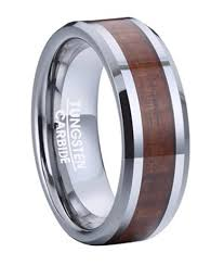 wooden wedding rings tungsten koa wood wedding rings justmensrings