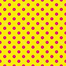 yellow with pink polka dots seamless pattern or texture with pink polka dots on neon yellow