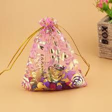 pink organza bags free shipping 500pcs lot drawable pink organza bag 11x16cm wedding
