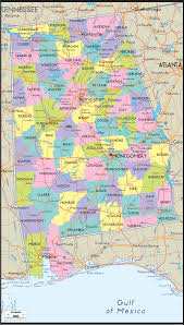Road Maps Usa by Map Of Alabama Includes City Towns And Counties United