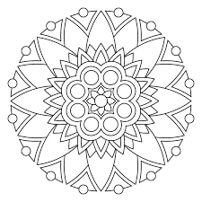 simple mandalas print color coloring pages simple mandalas