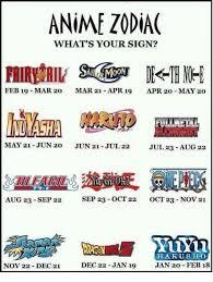 Zodiac Memes - anime zodiac what s your sign feb 19 mar 20 mar 21 apr 19 apr 20