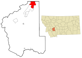 Montana Cities Map by Montana City Montana Wikipedia