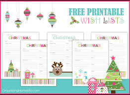 christmas wish list free printable christmas wish lists organizing homelife