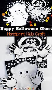 happy halloween ghost handprint kids craft
