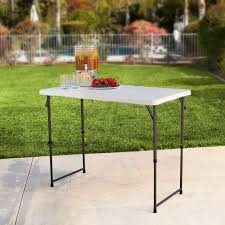 lifetime folding tables 4 lifetime adjustable 4428 height folding utility table 4 foot