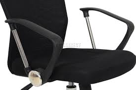 Executive Office Desk by Foxhunter Computer Executive Office Desk Chair Mesh Fabric Swivel