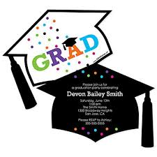 hats grad personalized graduation invitations