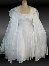 wedding peignoir sets vintage 60s bridal nightgown and peignoir set gotham gold stripe