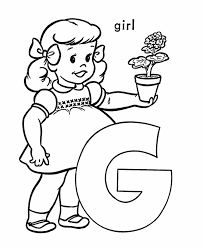 the letter g coloring pages for girls get coloring pages