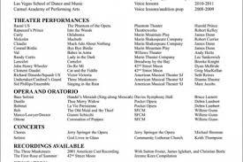 resume resume sle page vocal resume vocal