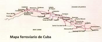 Cuban Map Cuba Train Map Cuban Railway Map Caribbean Americas