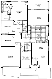 single story 4 bedroom house plans tangerine terrace floor plan plan 803