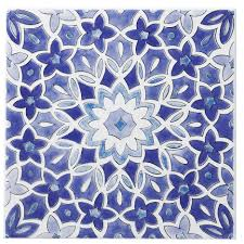 b q kitchen tiles ideas fleur blue ceramic wall tile l 200mm w 200mm ceramic wall