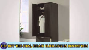 sauder homeplus wardrobe storage cabinet sauder homeplus wardrobe dakota oak youtube