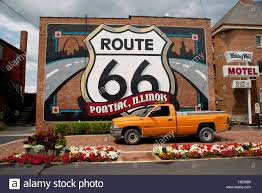 Route 66 Illinois Map by Route 66 Memorabilia Route 66 Shield At Pontiac Livingston