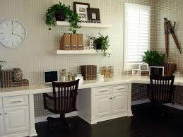 White Wooden Shelves by Cool Decorating Ideas Using Rectangular Brown Wooden Desks And