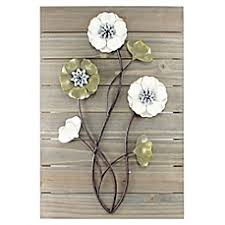 Metal Flower Wall Decor - metal wall decor bed bath u0026 beyond