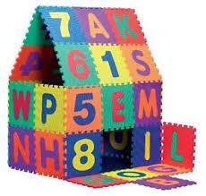 tappeto di gomma per bambini tappeto in gomma componibile set da 36 pezzi con lettere per