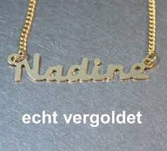real gold name necklace necklace nadine chain real gold plated name name necklace