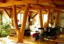 timber frame house with straw clay walls