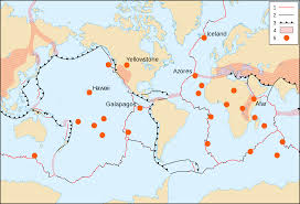Large Map Of The World Map Of The Tectonic Hotspots U2022 Mapsof Net
