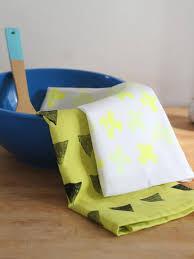diy potato stamped kitchen towels hgtv