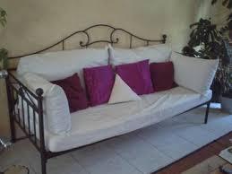 canapé lit fer forgé ikea canapé fer forgé pas cher intérieur déco