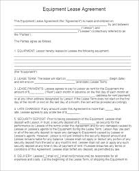 100 rental contract templates apartment rental lease