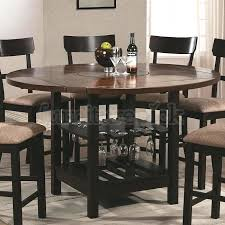 pub table height 42 42 inch high pub table dining room home design round counter height