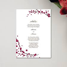 islamic wedding card branches fuschia muslim wedding invitation cards rectangle classic